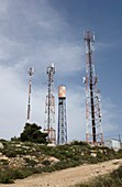 Communications masts, West Bank