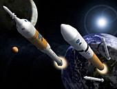Ares rockets, Constellation Program, illustration