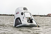 Recovery training for Crew Dragon spacecraft, 2017