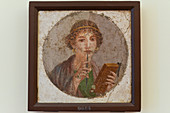 Pompeiian woman with wax tablet