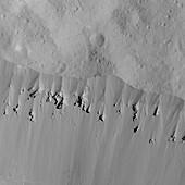Occator Crater, Ceres, satellite image