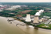 Doel Nuclear Power Station, aerial photograph