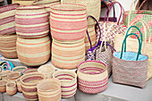 Grass baskets and bags