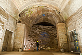 Archaeology at Domus Aurea palace in Rome