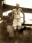 William Beebe aboard the Antares, 1930s