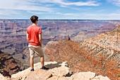 Young man at the Grand Canyon