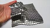 3D-printed metallic space fabric