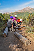 Hiking trail maintenance in the Colorado Rockies
