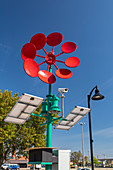 Wind-powered charging station, USA