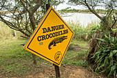Crocodile Danger Sign, Kwazulu-Natal, South Africa