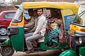 Auto rickshaw in downtown Agra, India