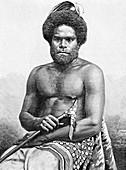 19th Century Loyalty Islands man, illustration