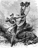 Dahomey Amazons, 19th Century illustration