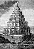 Lighthouse of Alexandria, 19th-century illustration