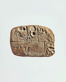 Cuneiform tablet, 4th to 3rd millennium BC