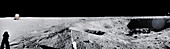 Apollo 11 lunar surface panorama, 1969