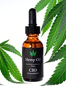 Hemp oil containing CBD, cannabidiol