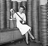 Cans of motion picture films, 1950s