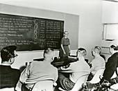Hopper teaching COBOL computer programming, 1960s