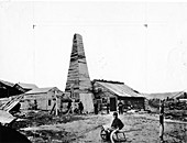 First oil well in the USA, 1859
