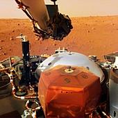 InSight lander on Mars, scientific instruments