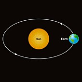 Earth orbiting the Sun, illustration