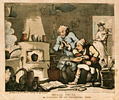 Alchemist in his laboratory, 1800