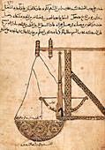 Islamic trebuchet, 12th century