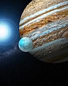 Europa and Jupiter, illustration