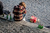 Teenage boy drinking alcohol