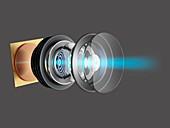 Modern camera lens, illustration