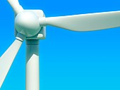 Close up of wind turbine, illustration