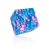 Digital cube, illustration