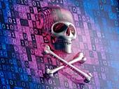 Digital security, conceptual illustration