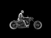 Illustration of a biker's skeleton