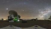 Milky Way over the ALMA telescope array