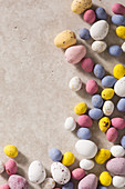 Colourful Easter mini and micro chocolate eggs
