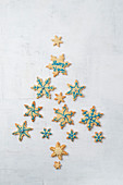 Christmas snowflake biscuits
