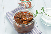 Beef goulash in a jar