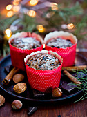 Chocolate cinnamon muffins