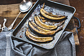 Roasted bananes with honey and rum
