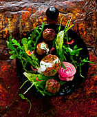 Cutlets with a garden salad