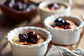 Baked Ricotta with Cherry Orange Compote