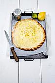 Tarte Bressane with lemon zest