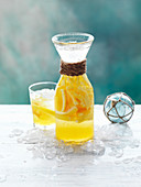 Citrus Crush (Zitrusdrink mit Crushed Ice) zu Weihnachten