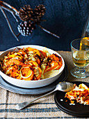 Pumpkin, Rosemary and Thyme Gratin