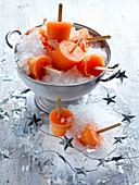 Campari-Grapefruit-Eis am Stiel zu Weihnachten