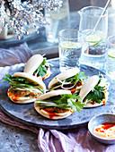 Lemon Grass Turkey Sliders (Gua Bao)