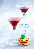 Martini Sweet with vermoth rosso, gin and grenadine