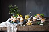 Sweet cupcakes with meringue